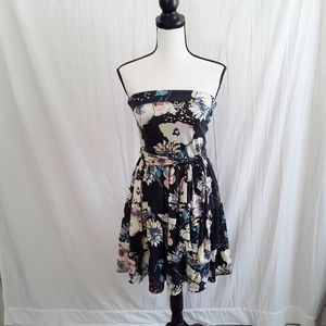 4/$25 Charlotte Russe Floral Strapless Mini Dress